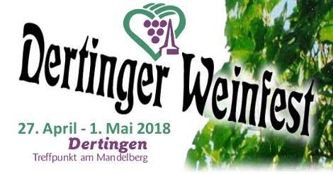 Weinfest Dertingen - Programm 2018