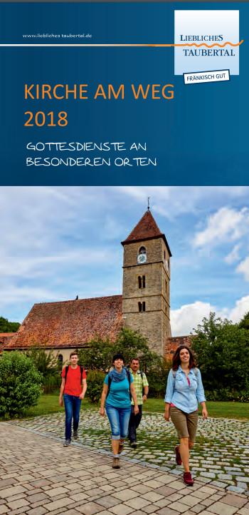 """Kirche am Weg - Prospekt des """"Lieblichen Taubertals"""" <br /> <a href=""""http://www.liebliches-taubertal.de/Veranstaltungen/Kirche-am-Weg.html"""" target=""""_blank"""" rel=""""noopener"""">→ zur Webseite</a>"""